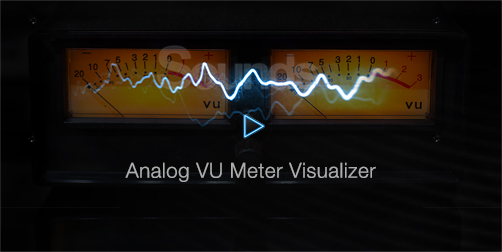 Analog VU Meter Visualizer Classic Vintage Look