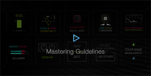 Mastering Guidelines | Fly High Waves Sounds