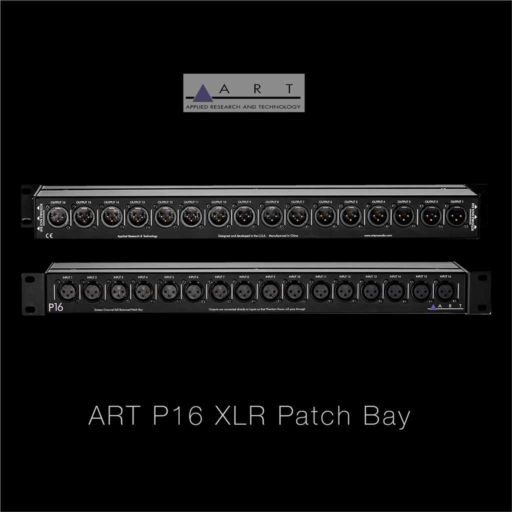 ART P16 XLR Patch Bay 16 CH Balanced